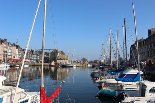 Port within Honfleur.Normandy, France.