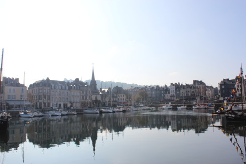 Fantastic reflection at Honfleur. Normandy, France.