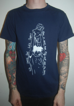 We Came Out Like Tigers - One colour, white print on navy ringspun shirts. For the euro tour with Ravachol next week!