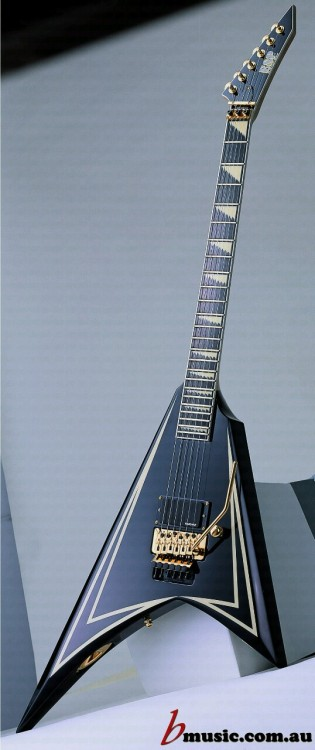 tits-and-guitars:  ESP Guitars Alexi Laiho Signature Black & Gold