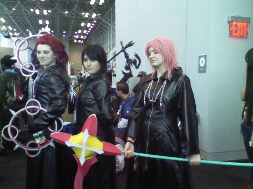 Axel, Xion, Marluxia cosplayers. they're nice. I got hugged by Axel and Xion of the group cause i knew it was Xion lol