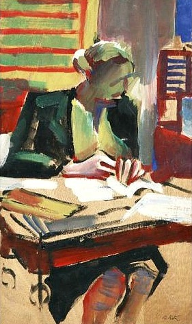 Alfred Reth Woman Reading First half 20th century