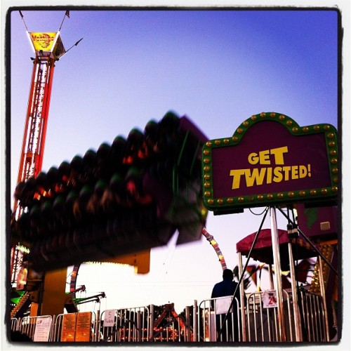 "about to ""get twisted"" at the state fair (Taken with instagram)"