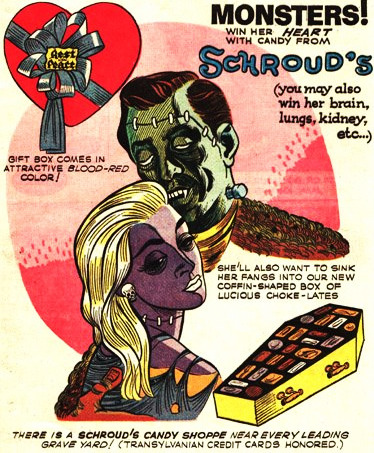 Schrouds Candy- ad from Bats Comics 1960's