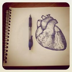 Drawn for the owner of the broken heart.
