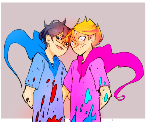 psycho and trickster john! hugging or somethin weird