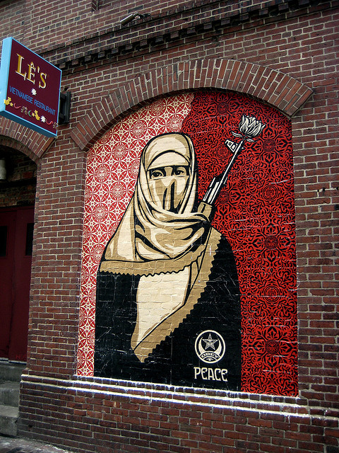 casablancasoldier:  Obey Giant Muslim Woman by LMGoBlue on Flickr.