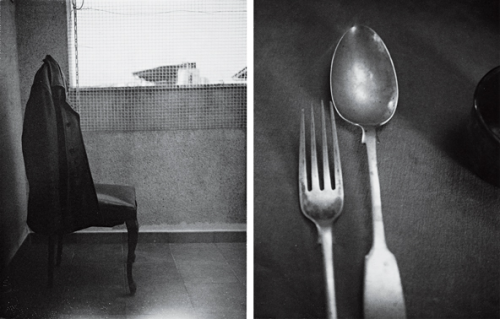 Roberto Bolaño's Chair/Arthur Rimbaud's Fork and SpoonPhotos by Patti Smith(via walkwhilereading)