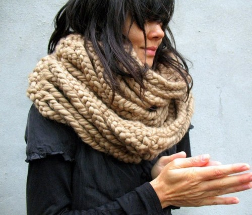 I love this chunky scarf in a natural wool… Looking forward to the my-shell me-shell limited edition chunky range being knitted for me at the moment x