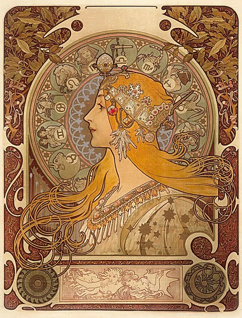 Zodiac (1896) by Mucha
