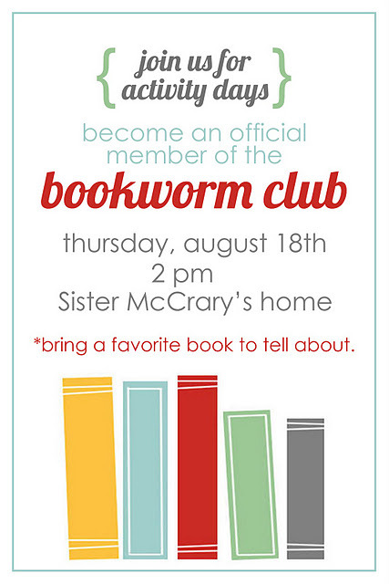 (via all things simple: activity days: bookworm club)