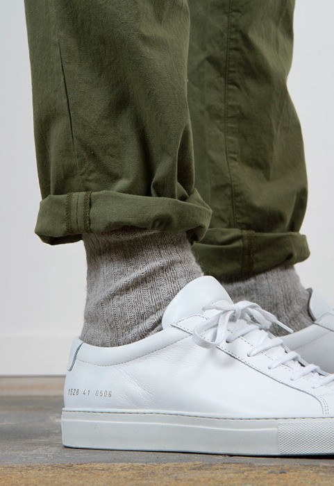 thetieguy:  dont usually like plain white sneakers but this is sick.