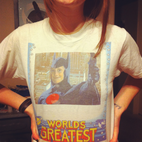 my new favorite shirt, featuring my boyfriend when he was seven. :}