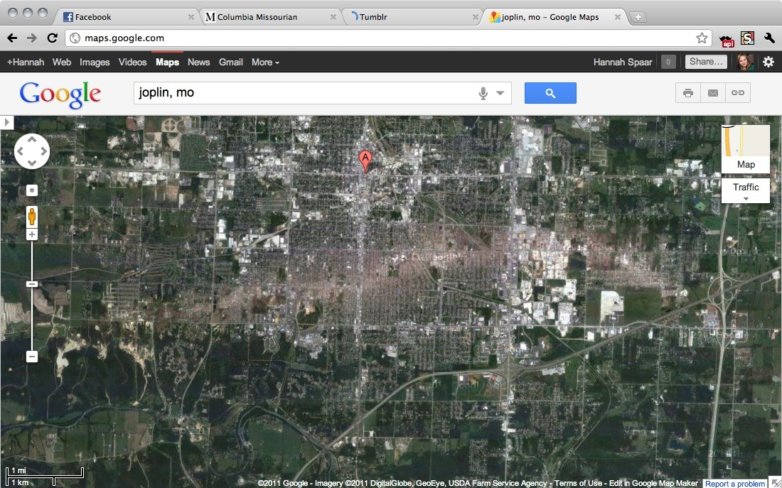 unruled:  Have you seen what Joplin looks like on Google Maps?  Incredible, and sad.