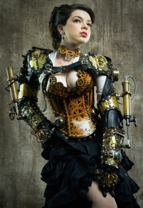 gratsoy:  Steampunk lady