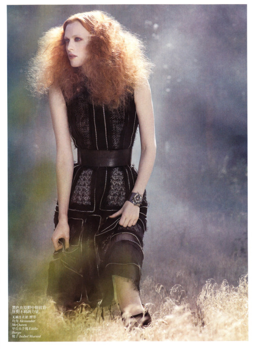 Karen Elson - Vogue China November 2011 by Mark Segal