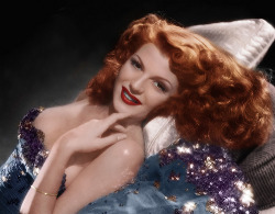 crystalline-knowledge:  Happy birthday to this wonderful lady, Rita Hayworth! She was the first classic movie star that I became fascinated by and for that she holds a special place in my heart. This is the very picture that sparked it. Rita Hayworth's Birthday: October 17, 1918