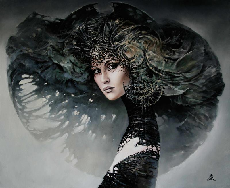Another of Karol Bak's fantastic ladies. Found  HERE