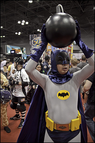 Batman NYCC 2011 (by Patty Boh) Some days you just can't get rid of a bomb.