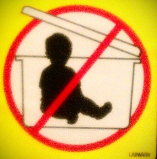 No babies in the bucket!