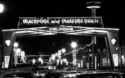 Blackpool illuminations by John Burke, 1982.
