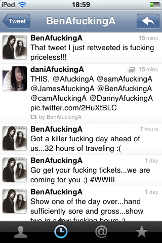 BEN BRUCE JUST FUCKING RETWEETED ME. This definately made my night.