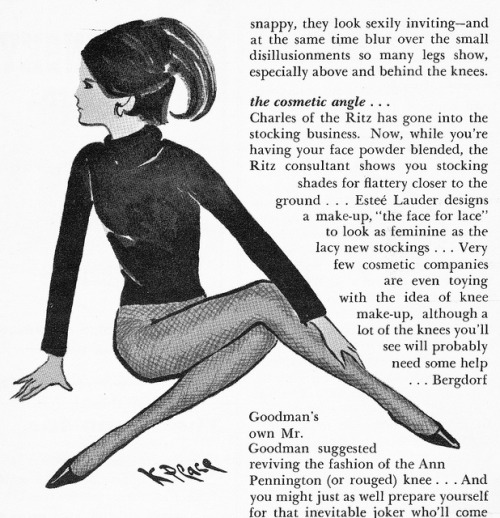 Fashion Illustration Tights 1964