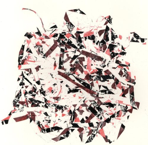 Typewriter Ribbon Relief, Red Choas, 2011