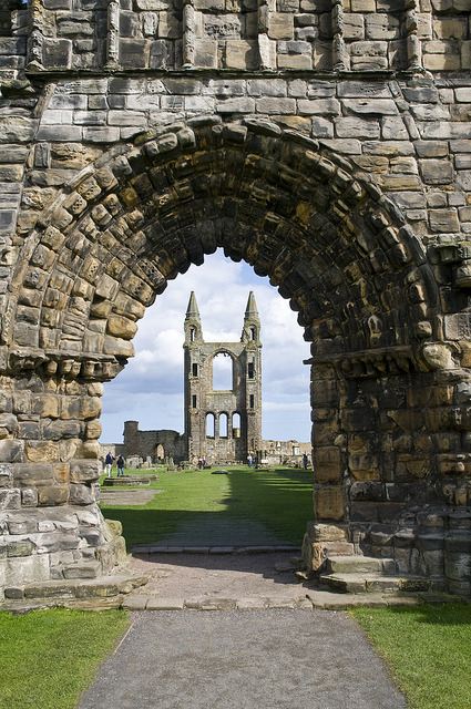 medievallove:  St. Andrews cathedral ruins, Fife, Scotland. 12th c. by philhaber on Flickr.