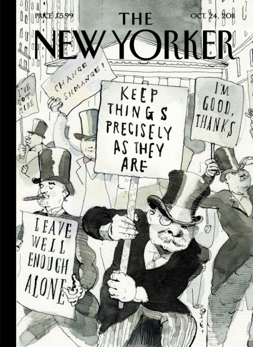 occupyla: FOREVER REBLOG. Cover of The New Yorker, Occupied by the 1% newyorker: