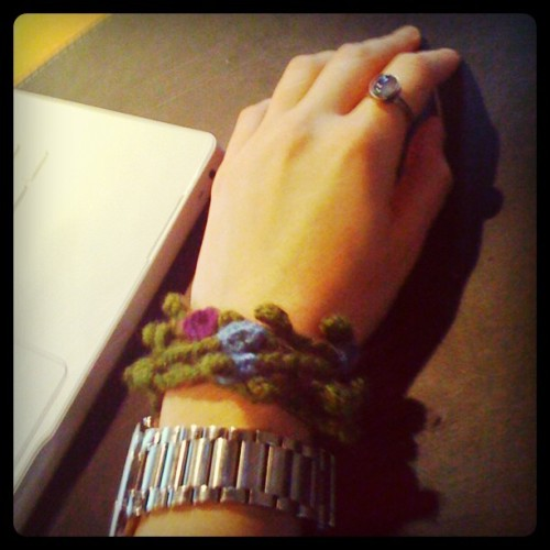 WIWT a CUE Crochet Accessory & a big chunky watch! (Taken with Instagram.) -Cory U