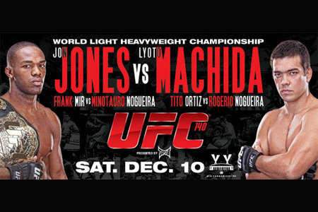 Jon Jones VS Lyoto Machida for the light heavy weight title at #ufc140 . Jones isnt even 25 and hes on his way to legend status.