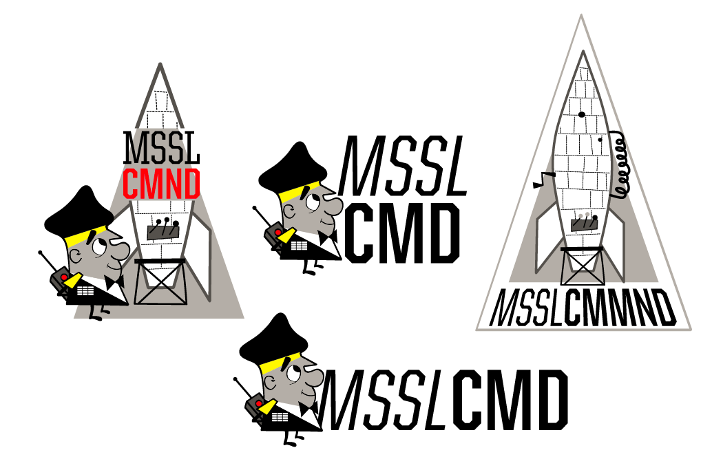 Missile Command logo drafts by Jason Rodman of Noah Larmz. Thoughts/feedback/etc??