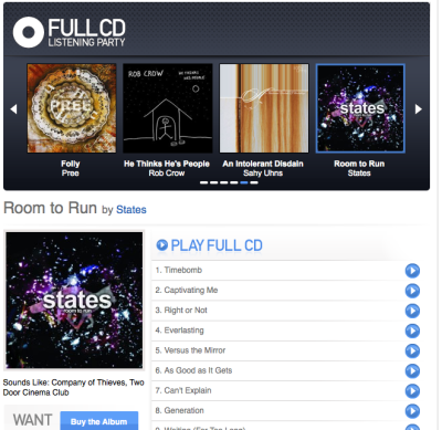 "HERE IT IS: Stream our entire new album ""Room to Run"" right NOW before it releases tomorrow! http://aol.it/gRvzK6 @STATESmusic #RoomtoRun Repost Please! (and tell us your favorite track)"