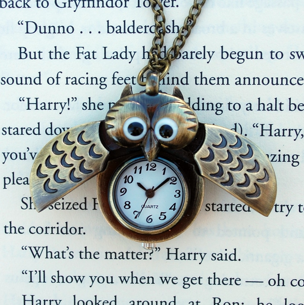 the-absolute-funniest-posts:  The Winged Owl Watch Necklace is back in-stock at the Wicked Clothes shop! Order now and use coupon code '1000NOTES' to get 10% off your order! Hurry and order now!