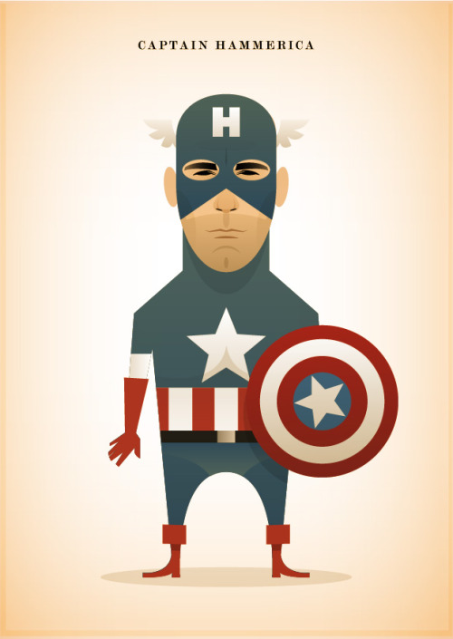 Jon Hamm meets Captain America in @stan_chow's latest illustration. stanleychowillustration:  Captain Hammerica