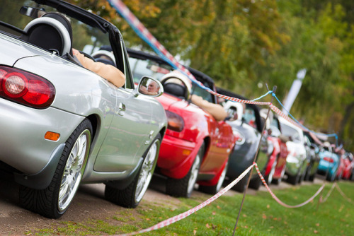 MX5s on parade by aberconwyphotography on Flickr.#maitamonday #mazda