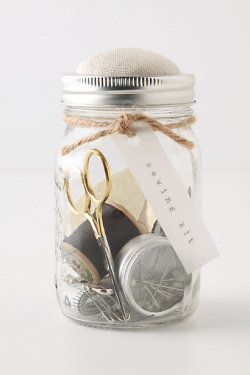 Mason Jar Sewing Kit (via Anthropologie, $48) A DIY MUST in the making…