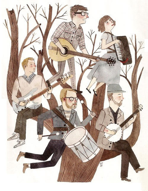 yourheadisnotright:  The Decemberists by Carson Ellis.