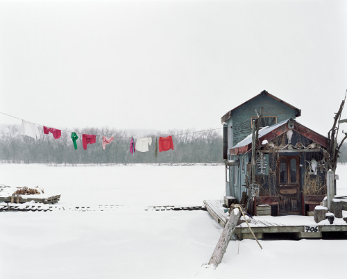 Alec Soth artist, Sleeping by the Mississippi. Peter's Houseboat, Winona, Minnesota 2002Contemporary-Art-Blog
