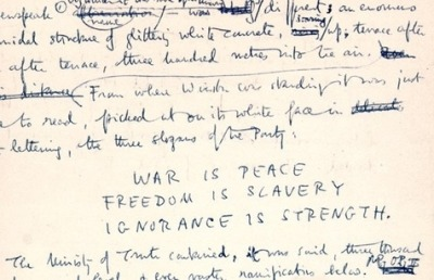 ba-rid:   from George Orwell's handwritten manuscript of 1984.  spectacular novel!