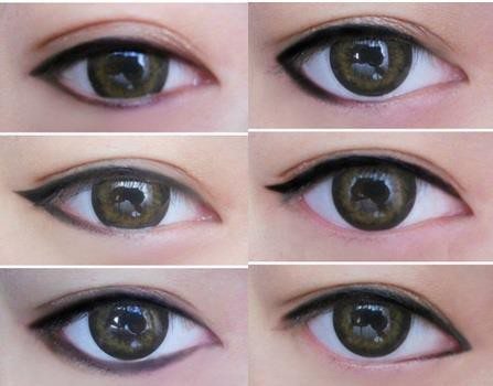 yeoja:  glamattractions:  How eyeliner styles change your eye appearance.  magic