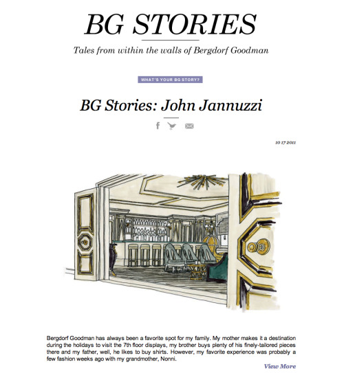 Our latest BG Story is up. Naturally John Jannuzzi's includes lunch with his grandmother, Nonni.  Read John's BG Story on 5th/58th Share your own BG Story