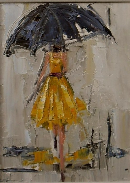 Girl in a yellow dress. I adore this painting!