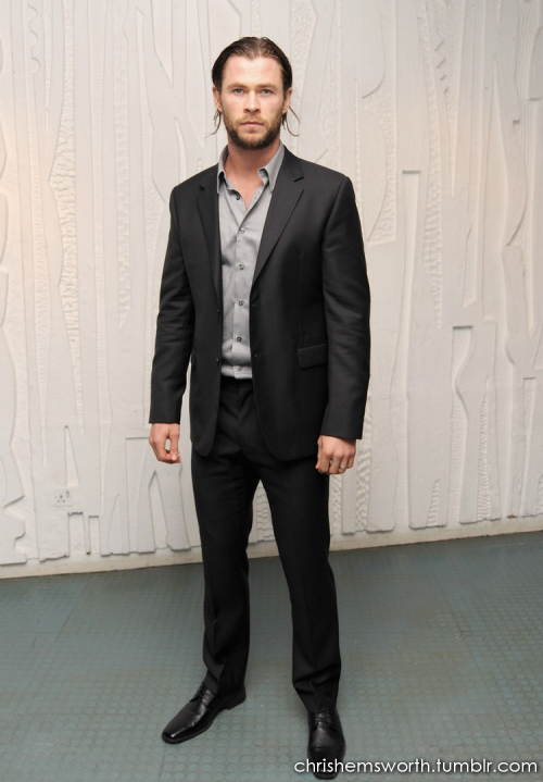 Chris Hemsworth at the Calvin Klein Dinner held at the Design Museum on Thursday (October 13) in London, England.