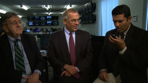 "Mark Shields, David Brooks and Hari Sreenivasan: ""Siri, what is 'The Doubleheader'"" Around the 7:30 mark in this video"