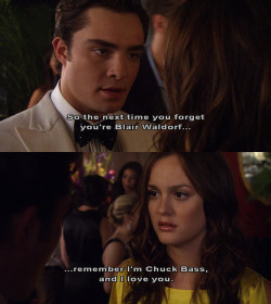 watmakesmehappi:  HE is CHUCK BASS … and he loves uuu!!!
