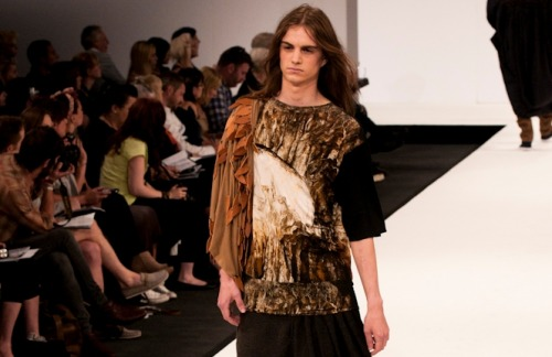 namal: Lucy Johnson, University East London at Graduate fashion week 2011. For more see Rebel Magazine's Graduate Collections issue.