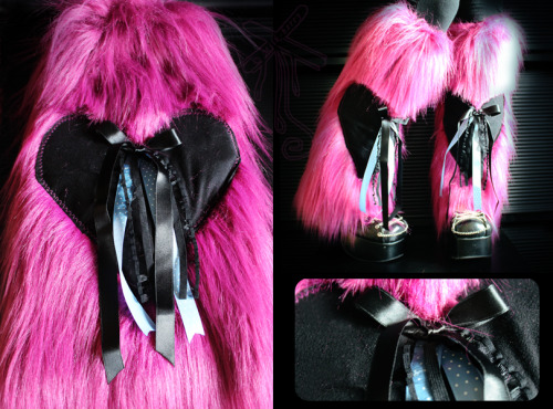 Magical Legwarmers, fuchsia Faux Fur. Sweet and warm, for a colorful winter. Unique model for sale on my Dawanda !