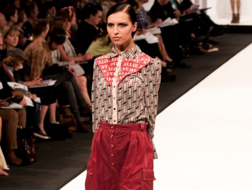 namal: Charlotte Smith, University East London at Graduate fashion week 2011. For more see Rebel Magazine's Graduate Collections issue.